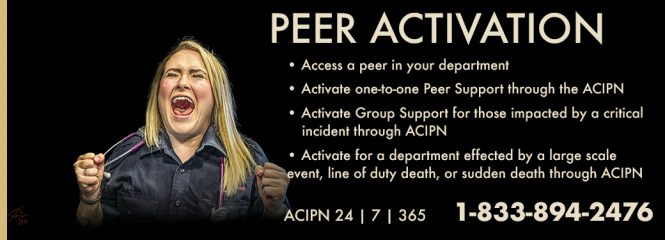 Peer Activation Information. Call ACIPN 24/7/365 1-833-894-2476. Photo of EMS by DanSun Photo Art
